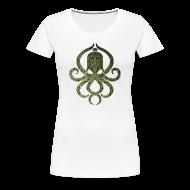T-Shirts ~ Frauen Premium T-Shirt ~ Tintenfischwurst Shirt Grün/Weiss