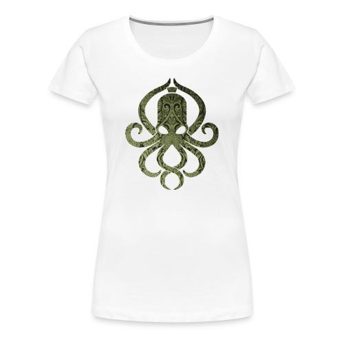 Tintenfischwurst Shirt Grün/Weiss - Frauen Premium T-Shirt