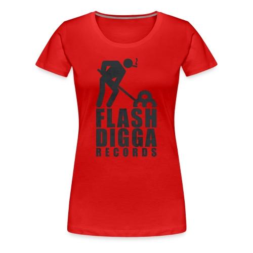 Flashdigga Shirt Rot/Schwarz - Frauen Premium T-Shirt