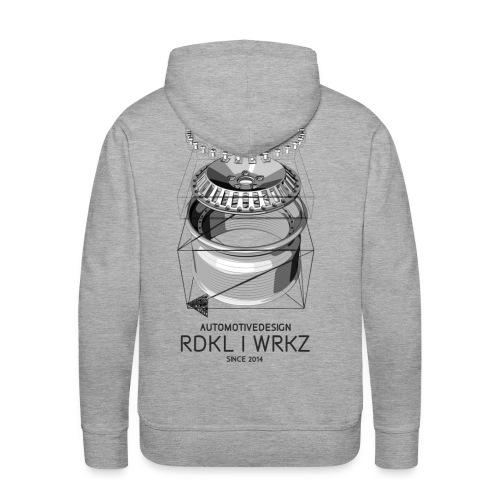 RadikalWerkz Wheel Porn Hoodie Grey - Männer Premium Hoodie