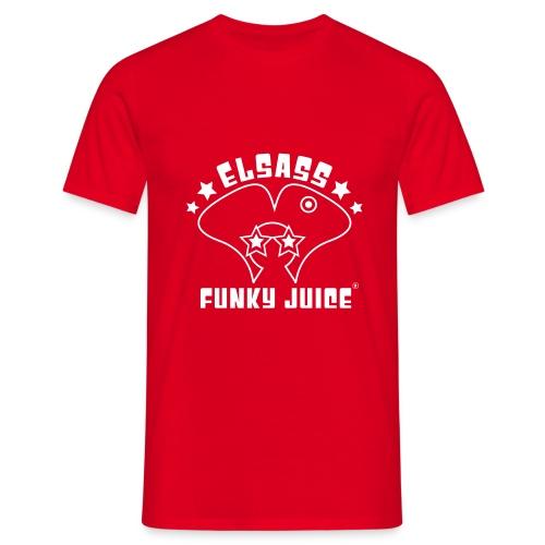 Classic Rouge Logo Velours Blanc - T-shirt Homme