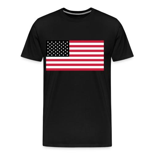 Red, White And Black USA - Men's Premium T-Shirt