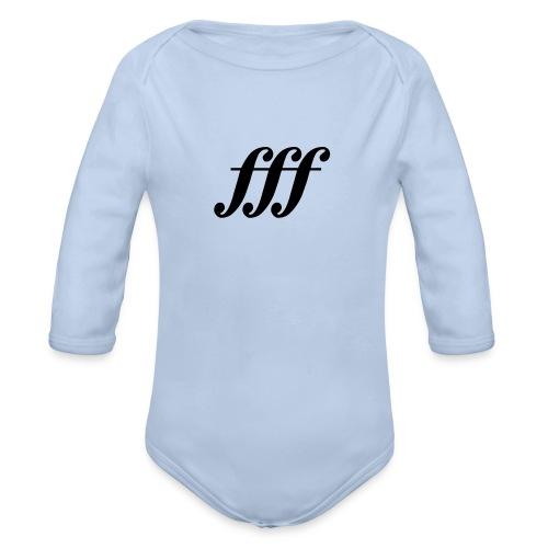 fff - Fortississimo Langarm-Strampler - Baby Bio-Langarm-Body