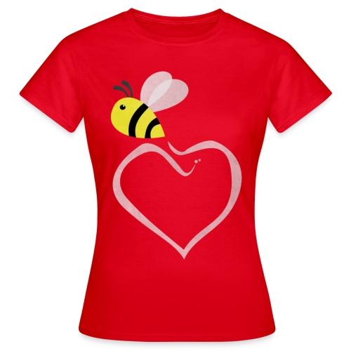 T-Shirt (Frauen) mit Biene - Frauen T-Shirt