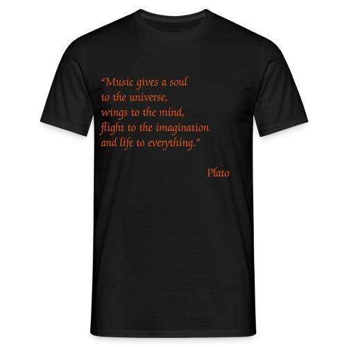 Music gives... - Männer T-Shirt