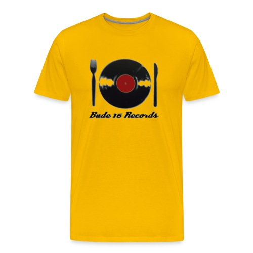 Bude 16 Records eat Vinyl Logo - Männer Premium T-Shirt