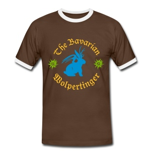 The Bavarian Wolpertinger - Männer Kontrast-T-Shirt