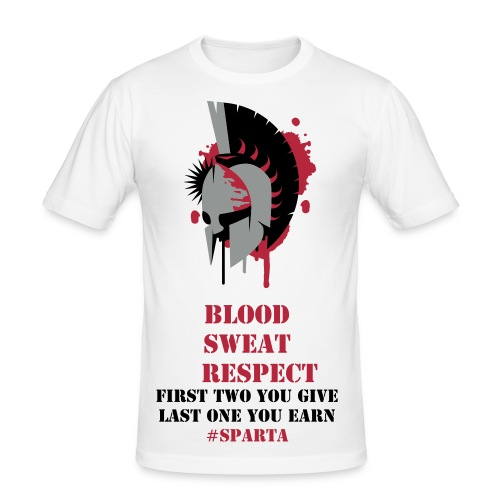 Blood Sweat Respect - Männer Slim Fit T-Shirt