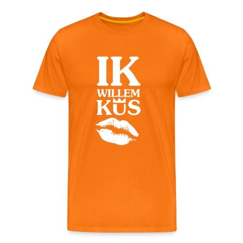Shirt voor Koningsdag: Ik Willem kus!  - Mannen Premium T-shirt