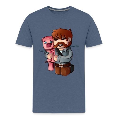 Eg elske bacon! - Premium T-skjorte for tenåringer