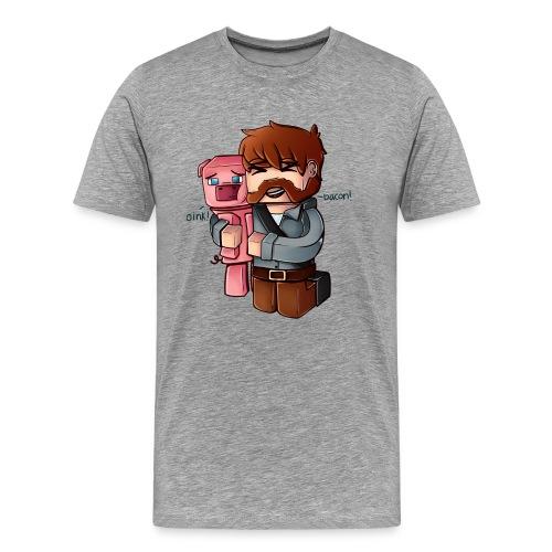 Eg elske bacon! - Premium T-skjorte for menn