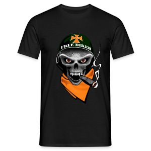 Men's T-Shirt - Biker Skull Design