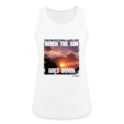 when the sun goes down - Frauen Tank Top atmungsaktiv
