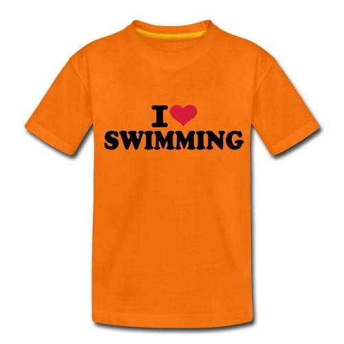 I love swimming kids - Kinderen Premium T-shirt