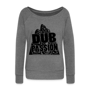 DUB PASSION BLACK - Women's Boat Neck Long Sleeve Top