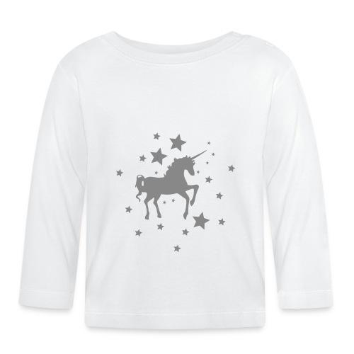 Einhorn Star Siver - Baby Langarmshirt