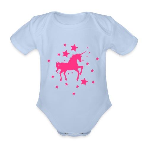 Einhorn Star - Baby Bio-Kurzarm-Body