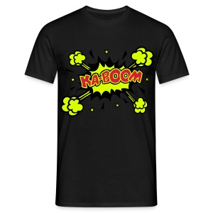 Men's T-Shirt - KABOOM Comic Book Style Design