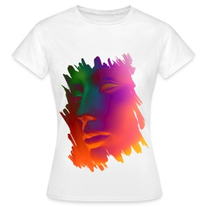 Women's T-Shirt - Colourful Neon Face Design