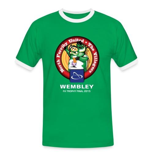 Mens NFU - White Text - Men's Ringer Shirt