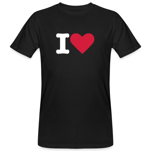 T-shirt Herr I Love ECOday  - Ekologisk T-shirt herr