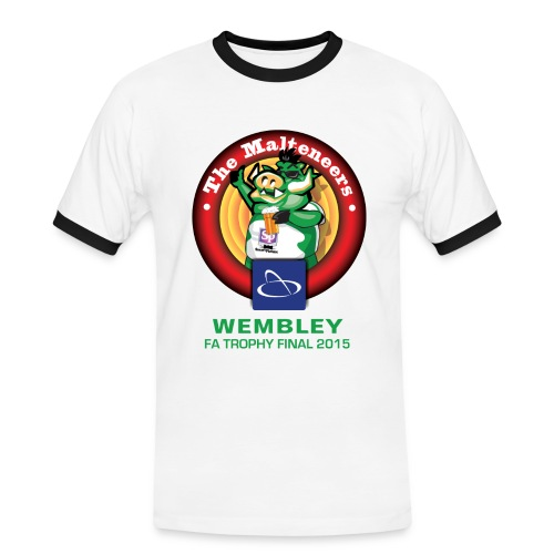 Mens Malteneers - Green Text - Men's Ringer Shirt