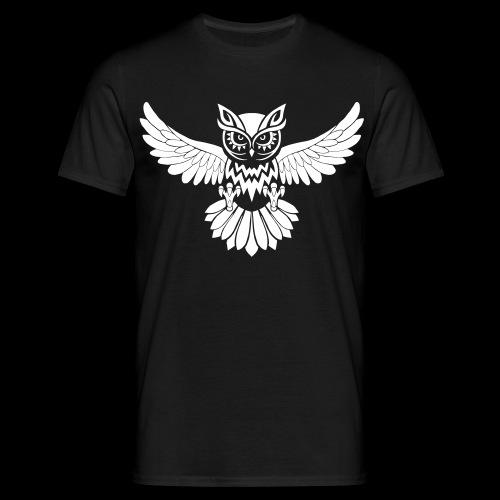 Eule Tribal - Männer T-Shirt