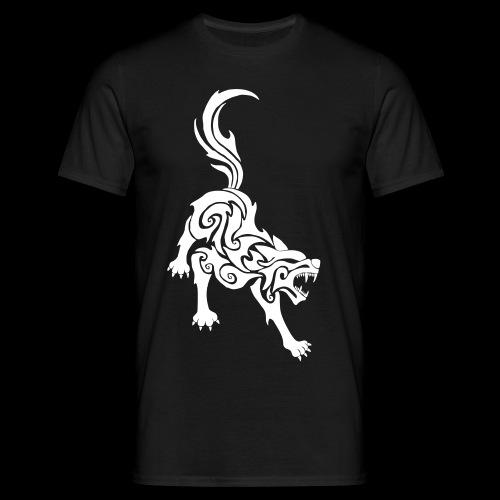 Wolf Tribal - Männer T-Shirt