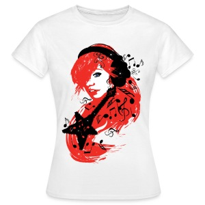 Women's T-Shirt - Music Girl Design