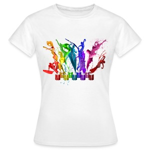 Women's T-Shirt - Dance Of Paints Design