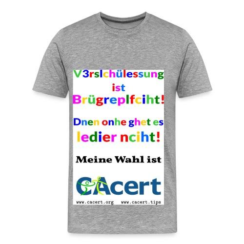 Buergerpflicht-F - Männer Premium T-Shirt