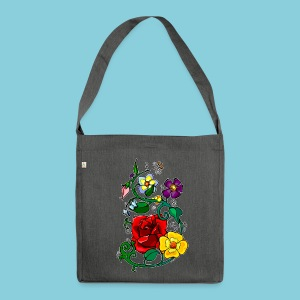 Bag Flowers N°3 - Shoulder Bag made from recycled material