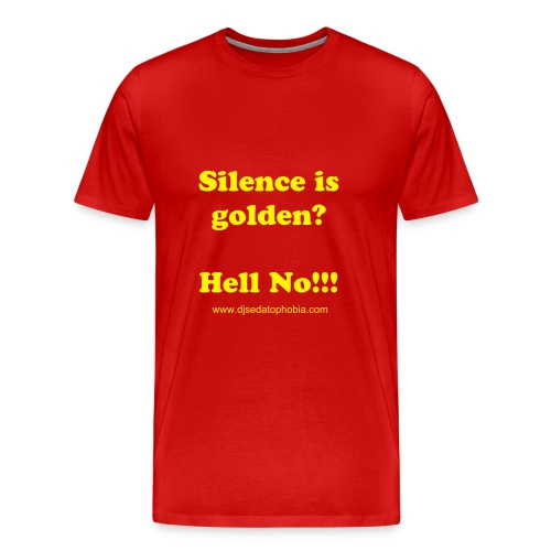 Men silence golden, yellow text - Men's Premium T-Shirt