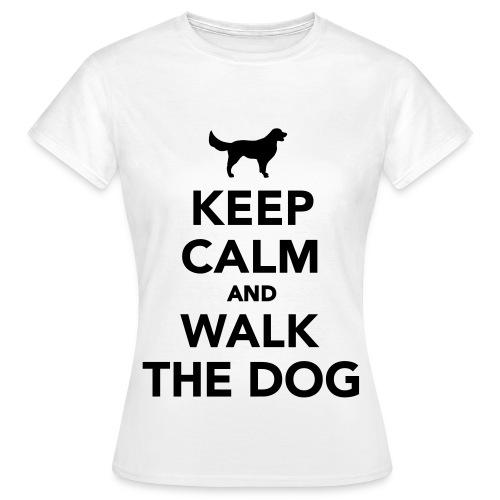 keep calm and walk the dog - Women's T-Shirt