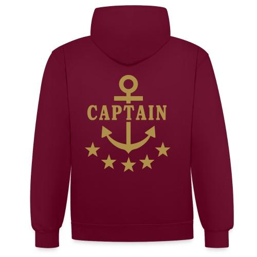 Captain Jacke - Kontrast-Hoodie
