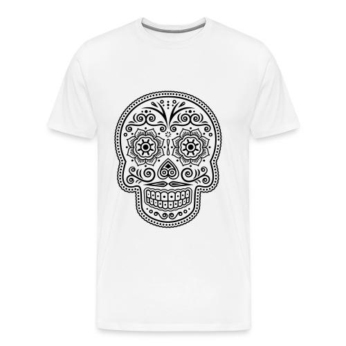 t-shirt Mexican skull - Maglietta Premium da uomo