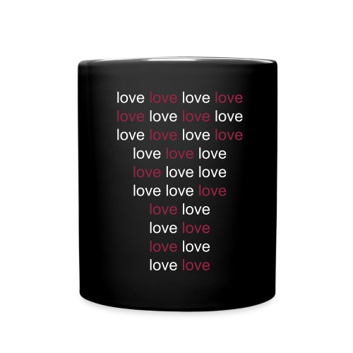 LOVE LOVE LOVE LOVE - Taza de un color