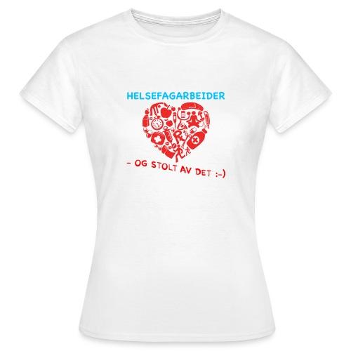 Helsefagarbeider  t-shirt - T-skjorte for kvinner