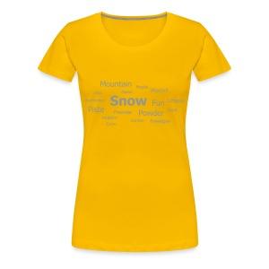Tag Cloud Girls Top (Yellow) - Women's Premium T-Shirt