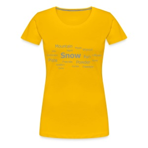 Tag Cloud Girls Top (Yellow) - Women's Premium T-Shirt