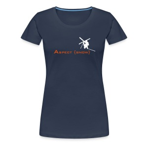 Aspect Ski Girls Top (Navy) - Women's Premium T-Shirt