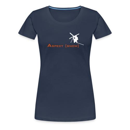 Aspect Ski Girls Top (Navy) - Women's Premium T-Shirt