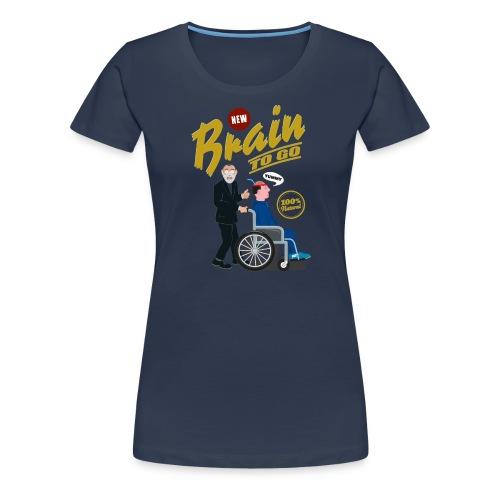 Brain to go - 100% Bio - Frauen Premium T-Shirt
