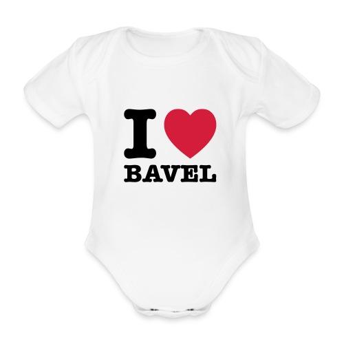 I Love Bavel (baby) - Baby bio-rompertje met korte mouwen