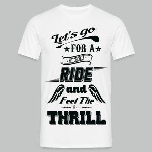 Let's go for a ride - Black logo - Men's T-Shirt