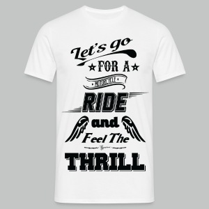 Let's go for a ride - Black logo - Men's T-Shirt