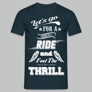 Let's go for a ride - White logo - Men's T-Shirt