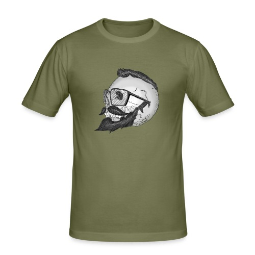 trendy skull - T-shirt près du corps Homme