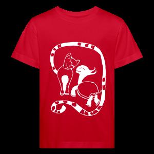 Kinder Shirt - Cat & Turtle - Kinder Bio-T-Shirt