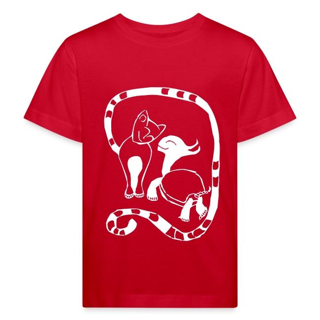 Kinder Shirt - Cat & Turtle